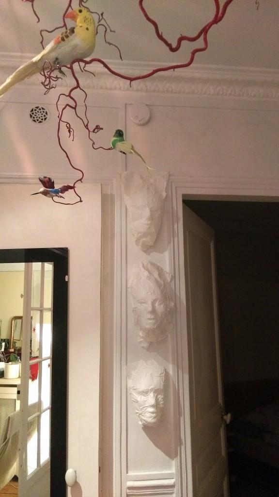 décoration masques papier