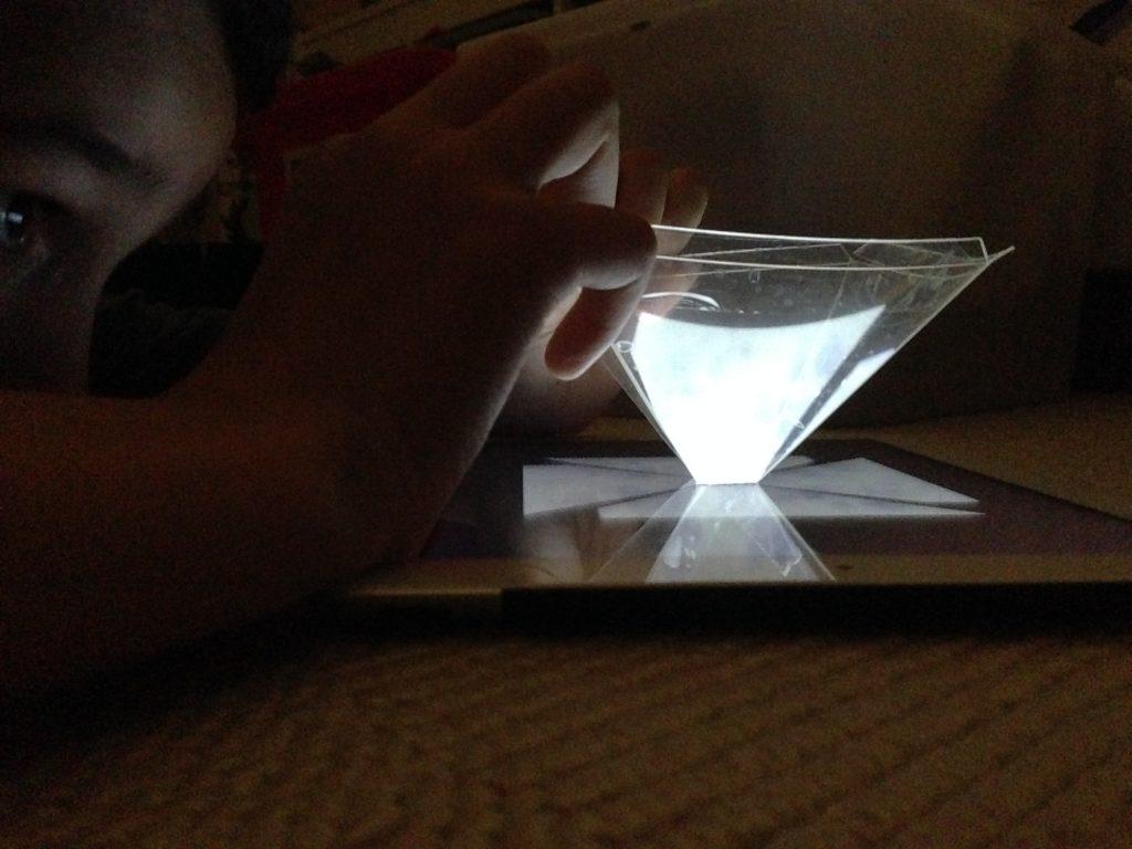 hologramme sur iPad