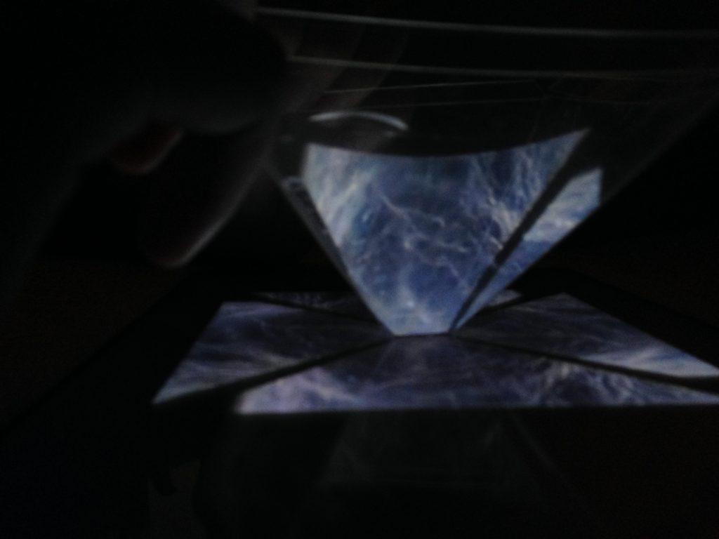 image hologramme iPad