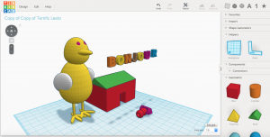 tinkercad poussin Victor